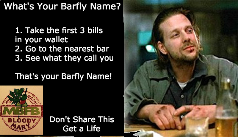What's Your Barfly Name?